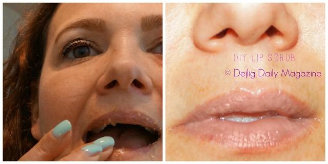 DIY Lip scrub face